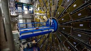 Pemercepat partikel LHC dengan detektor ATLAS di CERN Jenewa.